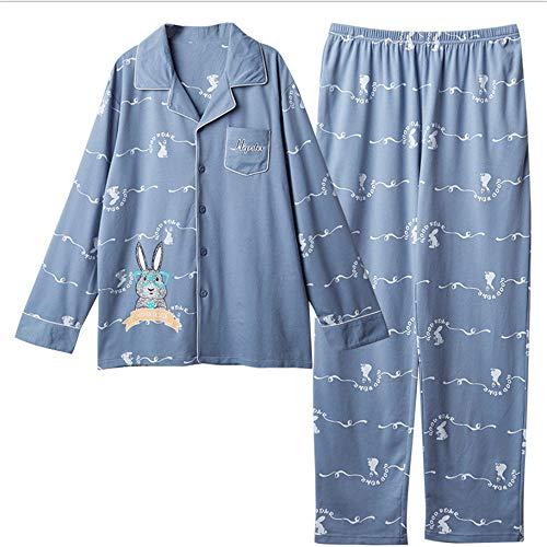 Uomo A Autunno In Home Cotone Uomo Casual Da Sottile Da Cotone Wear Set A Lunghe Pigiama Maniche Zybnb In x8FX77