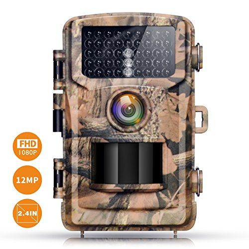 """Price comparison product image Campark Trail Camera 12MP 1080P 2.4"""" LCD Game Camera Motion Activated Wildlife Hunting Cam IR LEDs Night Vision up to 75ft / 23m IP56 Waterproof (New Version)"""