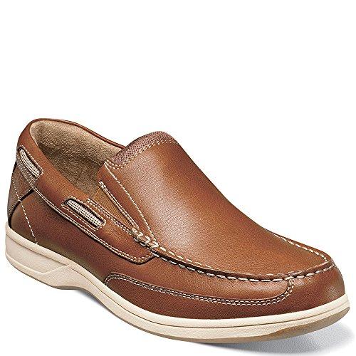 Florsheim Men's Lakeside Slip Boat Shoe, Saddle Tan, 9.5 ...
