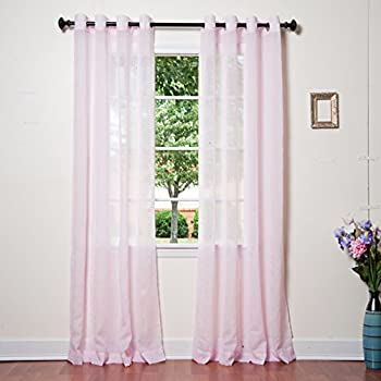 Best Home Fashion Crushed Voile Sheer Curtains