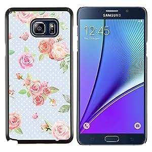 Stuss Case / Funda Carcasa protectora - Dot Rosa Bebé Azul Verde Retro - Samsung Galaxy Note 5