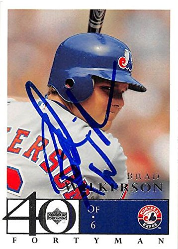 0ce273a6c Brad Wilkerson autographed Baseball Card (Montreal Expos, FT) 2003 Upper  Deck Fortyman #