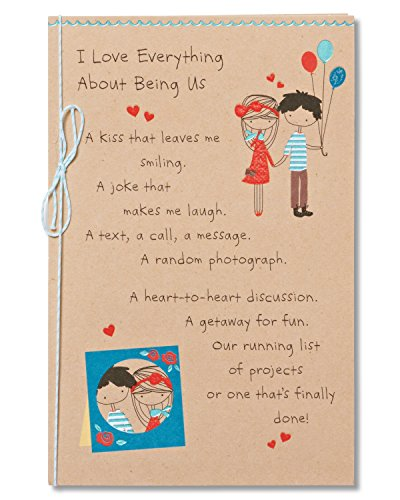 American Greetings Being Us Birthday Greeting Card for Sweetheart with Ribbon and Foil