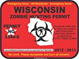 Wisconsin zombie hunting permit decal bumper sticker