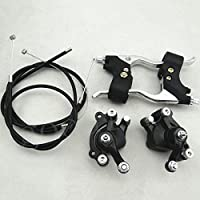 Brake Caliper Parts with Cable Levers Kit for Mini Pit...