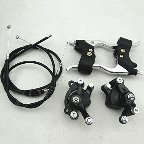 Brake Caliper Parts with Cable Levers Kit for Mini Pit Dirt Quad Pocket Bike 47cc 49c