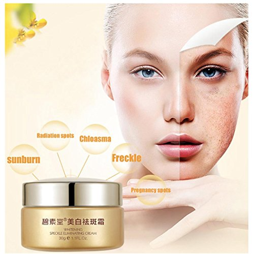 BB Cream, Hometom NR Face Skin Care Chloasma Freckle Pregnancy Acne Spot Remove Cream Whitening (Gold) ()