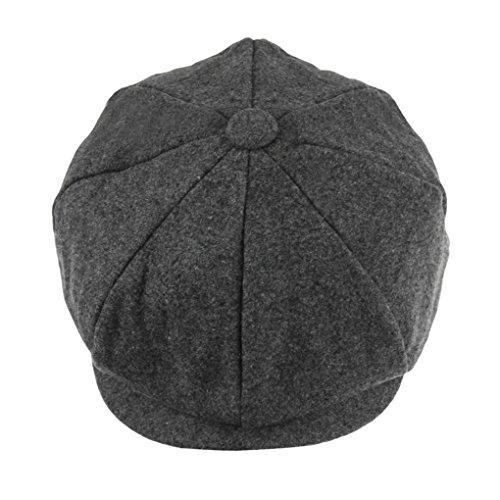 Unisex Women Men Newsboy Cap Winter Warm Wool Blend Flat Tweed Cap Cheviot Beret Applejack Gatsby Ivy Hats Cabbie Cap Hat -