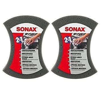2x SONAX MULTISCHWAMM AUTOSCHWAMM MULTI AUTO SCHWAMM REINIGUNG WASCHEN 2 IN 1