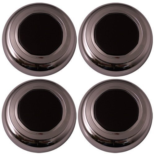Set of 4 Replacement Aftermarket Center Caps Hub Cover Fits 15x6 Inch Alloy Wheel - Part Number: IWCC3053 - Lincoln Town Car Center Cap