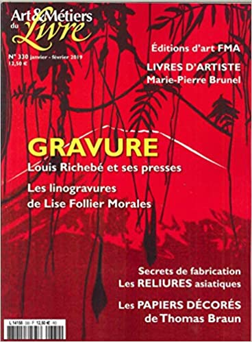 Amazon Fr Art Et Metiers Du Livre N 330 Gravure Janvier