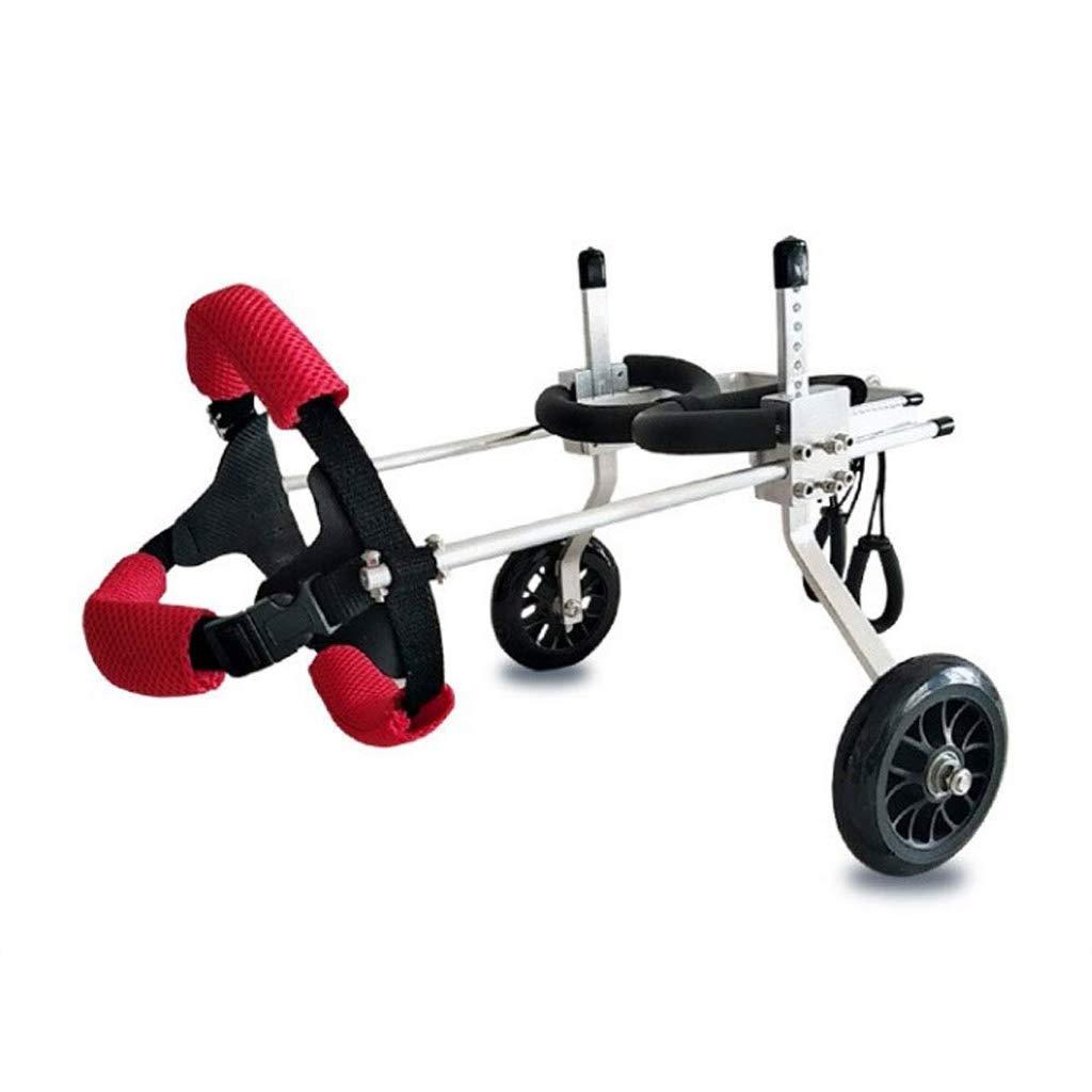 Ann Haustier-Rollstuhl, justierbarer Rollstuhl, für die Hinterbein-Reparatur der untauglichen Hunde und der Katzen, wiegend 3 bis 5 Pfund, Hinterbein-Unterstützung für Hunderollstuhl (größe : S)