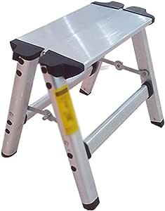 Inicio plegable escalera de dos pasos, taburete escalera de aluminio, taburete de pie, taburete de pesca portátil.: Amazon.es: Bricolaje y herramientas