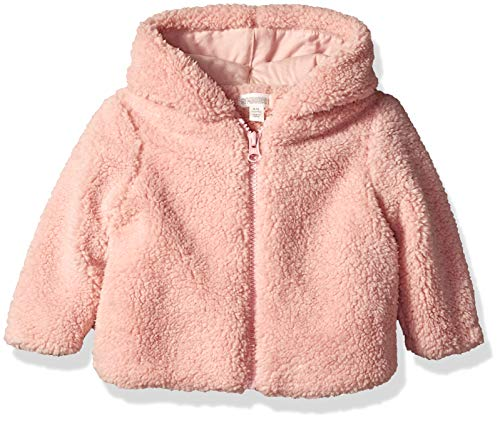 Gymboree Baby Girls Long Sleeve Sherpa Jacket, Pink Blossom 12-18 Mo