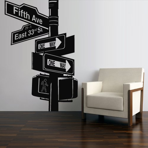 Wall Decal Mural Sticker Decor Art Bedroom Road Sign New York Broadway (Z2749) -