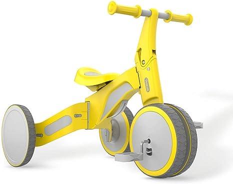 HYYQG Bambini Bicicleta De Equilibrio NiñIto Coche Oculto Pedal De Paseopara NiñOs De 2-3 AñOs Caminante Edades 18-36 Meses Rueda Ancha Durable Triciclo Infantil Primer CumpleañOs Regalo, Yellow: Amazon.es: Deportes y aire