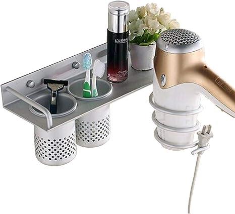 Unibos Heatproof Metal Hair Dryer Holder Organizer with Straightener Storage Stand Rack