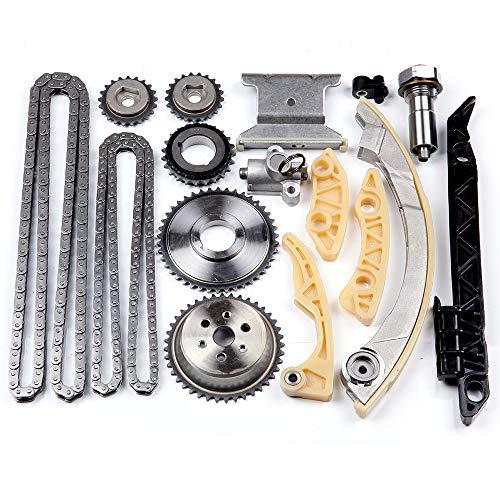 (OCPTY Timing Chain Kit Tensioner Guide Rail Crank Sprocket fits for Chevrolet Malibu 8-13 Equinox 10-15 Buick L4 2.0L 2.2L 2.4L 94201S)