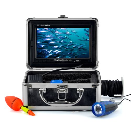 Generic Underwater Fishing Camera with 7 Inch Color Monitor (15m Cable, 600TVL, Night Vision)