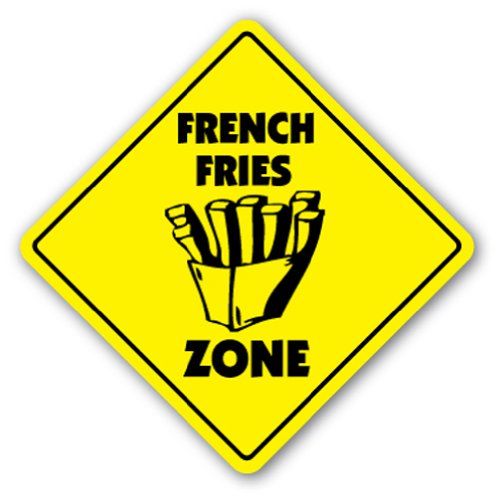 FRENCH FRIES ZONE Sign fry fryer concessions trailer