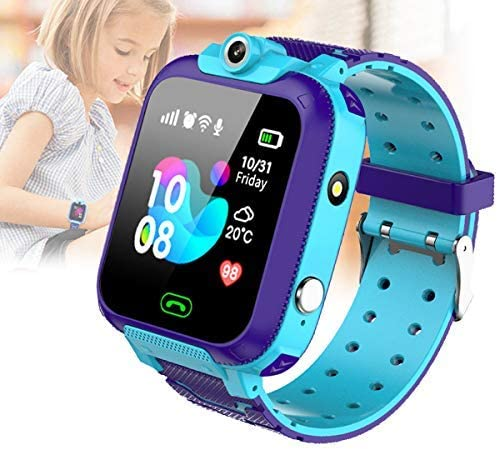 KToyoung Kids Smart Watch,Waterproof LBS Tracker Watch Childrens Smartwatch for Kids Girls,HD Touch Screen Sport Smartwatch Phone Watch with SOS Call Camera Game Alarm for Children Teen Students,Blue