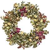 "Sullivans Artificial Aglaia Odorata Table Wreath 9"""