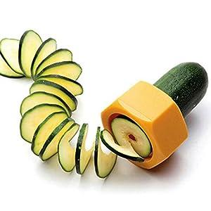 Smart Creative Spiral Slicer Cucumber Melon Salad Kitchen Tool Random Color (Copter Shop)