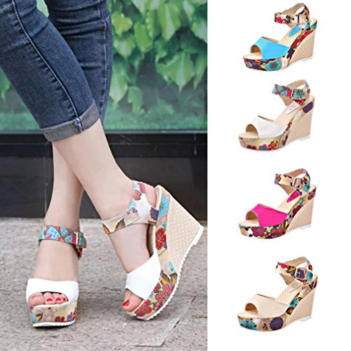 Wedge High Sandals Casual Slippers Heel Ladies Beige Shoes Sandals Women Transer® Wedges Platforms Comfy q6Utn5