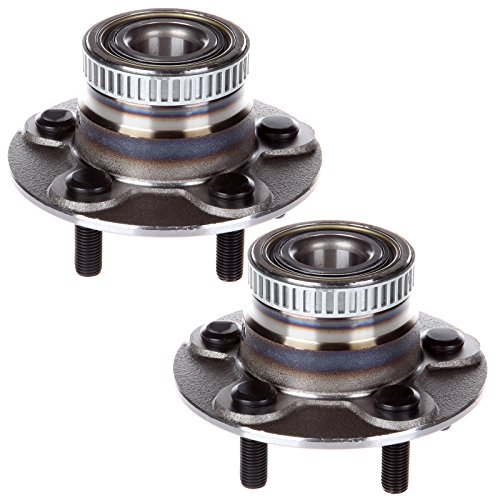 ECCPP Replacement for Pair of 2 Rear Wheel Hub Bearing Assembly 5 Lugs w/ABS for 2000-2005 Chrysler Dodge 512167¡Á2