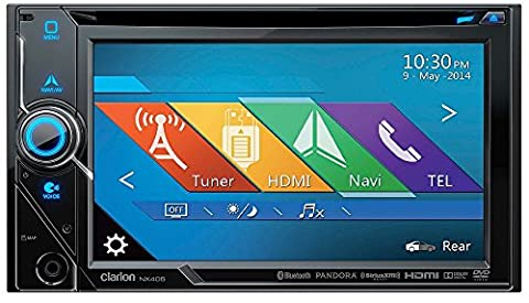 Clarion NX405 2-Din DVD Multimedia Station with Built-In Navigation and 6-Inch Touch Panel Control (Clarion Android)