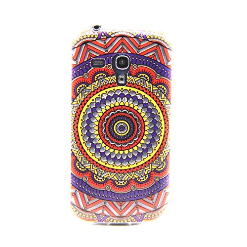 Sansumg GALAXY SIII Mini Case, Easytop Ultra Slim Fashion Style TPU Soft Rubber Protective 3D Feeling Clear back Cover Case for Samsung Galaxy S3 mini (NOT Fit S3), Carrier Compatibility Verizon, AT&T, T-Mobile, Sprint, International and Unlock Carriers. (Colorful Decorative pattern) (Samsung Galaxy S3 Mini Clear Case compare prices)