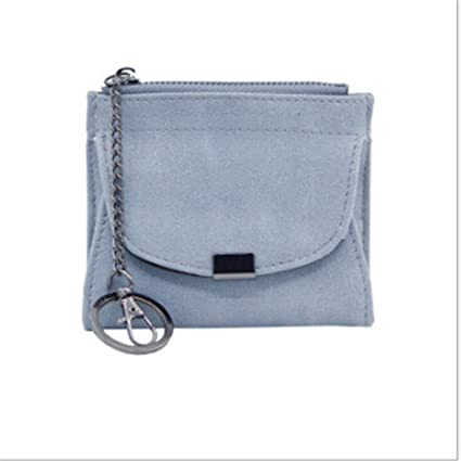 88cd1d5ad6d4 Amazon.com: GUAngqi PU Leather Coin Purse Wallet with Keychain Women ...
