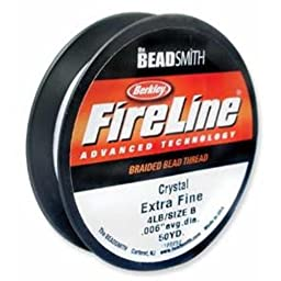 Fireline Braided Bead Thread, 0.006-Inch, Crystal Clear