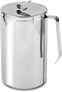 JOE&LEAH Kitchen Stainless Steel Compost Bin (0.92 GALLON) - Premium 304 Rust-Resistant Composter countertop bin with metal lid bucket pail indoor outdoor table food waste scrap mini small large bag