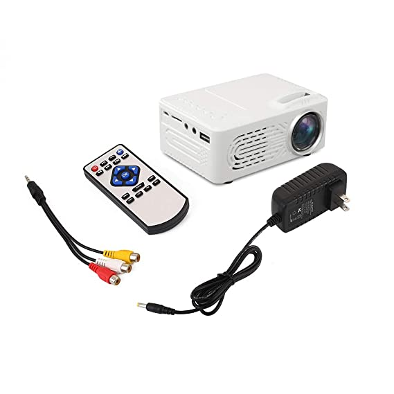 Negro TOPmountain 4K 3D 1080P Proyector Full HD Proyector Mini Proyector De Pel/ículas 4 3//16 9 Interfaz De USB//TF//AV para El Hogar