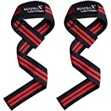 Padded Weight Lifting Straps Gym Exercise Fitness Training Bar Wrist Wraps Support