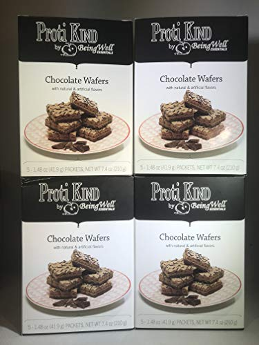 Proti Kind - High Protein Diet Wafers - Chocolate - 20 Servings - 4 Pack by Being Well Essentials (Image #3)
