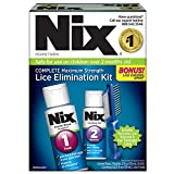 Nix Complete Lice Elimination Kit  | Maximum Strength | Kills Lice and Eggs While Preventing Re-Infestation | Includes Creme Rinse, Combing Gel, and Nit Removal Comb