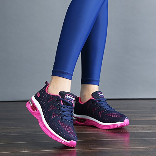 Athletic Air Lightweight Bluered Breathable Women's Gym Sport Sneakers Shoes Jogging JARLIF Running US5 10 Fitness 5 wBgqT0