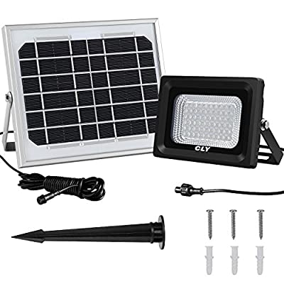 LTE 60 LED Solar Lights, Outdoor Security Floodlight, 300 Lumen, IP65 Waterproof, Auto-Induction, Solar Flood Light for Lawn, Garden
