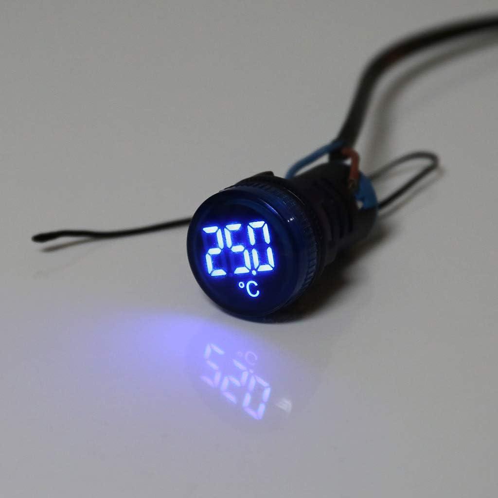 20-199 /°C wei/ß Anzeige der Temperatur f/ür Induktion only y y AC 50-380 V LED-Thermometer mit Anzeige