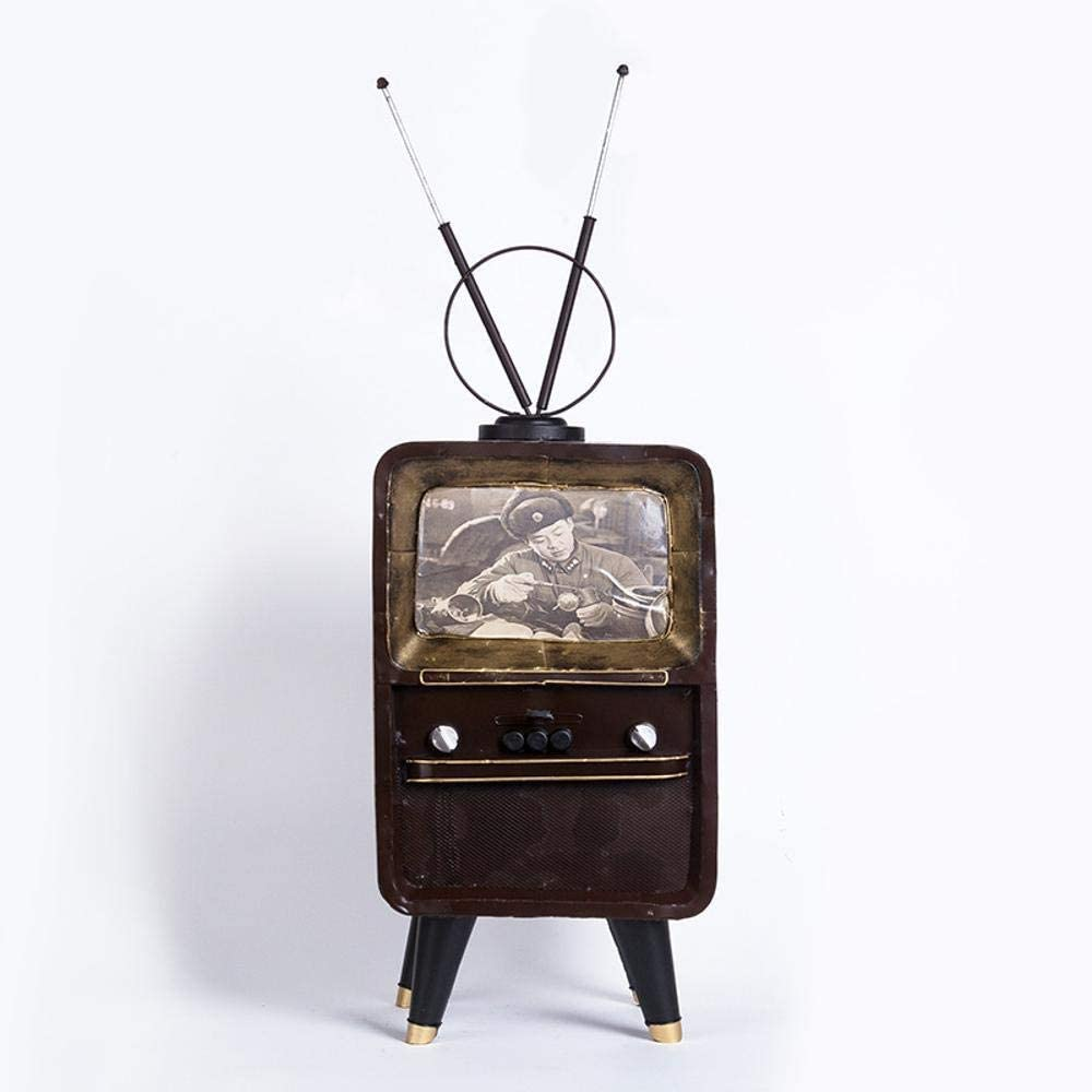 Axiba Vintage TV Modelo Hacer Antiguos oficios de decoración del hogar decoración Adornos Bar Retro 23 * 20 * 40 cm: Amazon.es: Hogar
