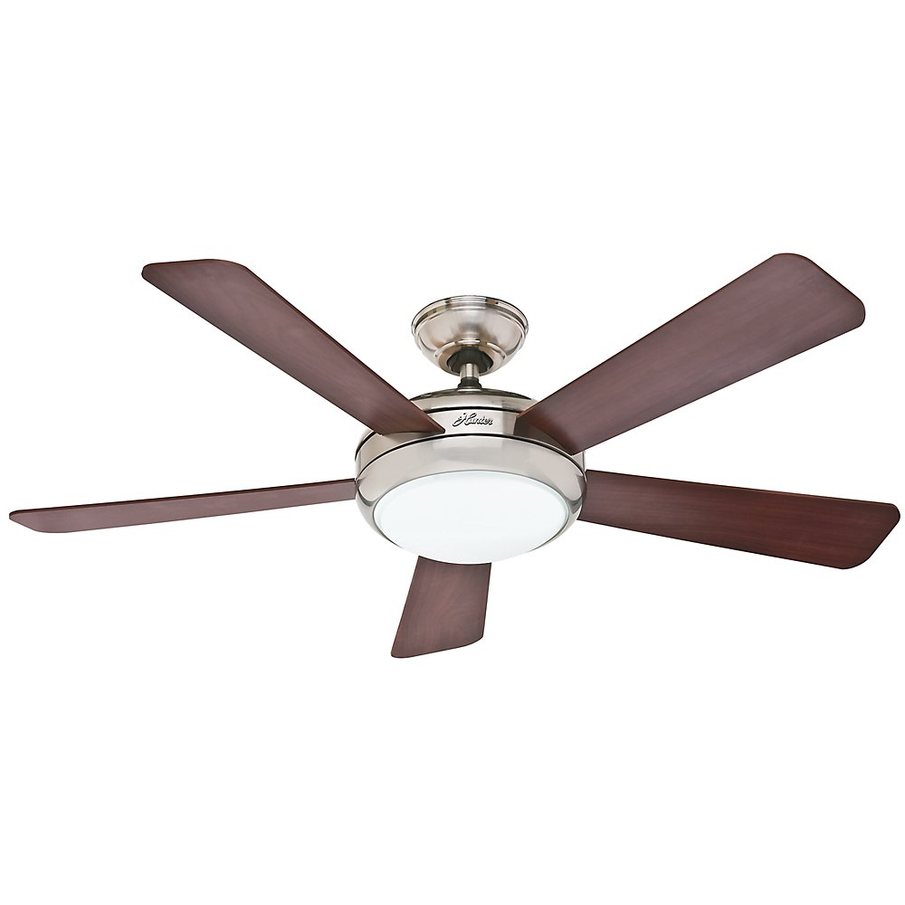 Hunter 59052 Contemporary Palermo Ceiling Fan with Five Cherry/Maple ...