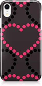 Loud Universe Case for iPhone XR Wrap Around Edges i Love You Dotted Heart Pattern For Valentines Day iPhone XR Cover For Girls Sleek Design Heavy Duty Rugged iiPhone XR Cover