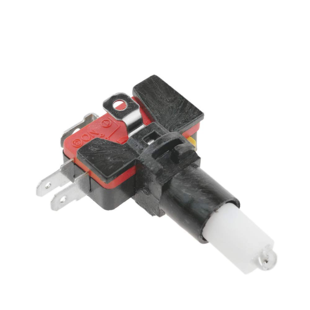 BeMatik Pulsador Arcade moment/áneo 32 mm 1NO 1NC 250V 15A SPDT Azul con luz