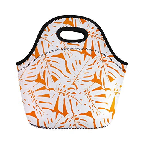 Semtomn Lunch Bags Leaves Inspired By Tropical Nature and Plants Like Palm Neoprene Lunch Bag Lunchbox Tote Bag Portable Picnic Bag Cooler Bag (California Palms Canopy)