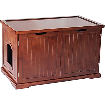 Amazon Com Merry Products Walnut Cat Hidden Litter Box Furniture
