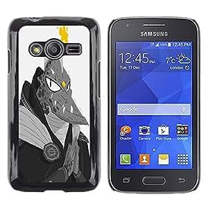 LECELL--Funda protectora / Cubierta / Piel For Samsung Galaxy Ace 4 G313 SM-G313F -- Monster Lizard Man Dragon Ufo Fire Alien --