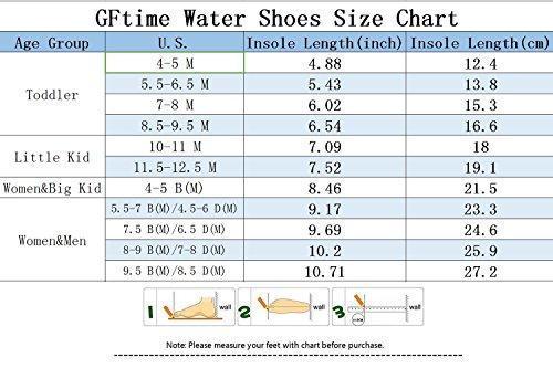 GFtime Wasser Schuhe, Unisex Männer Frauen Barfuß Quick Dry Slip On Aqua Schuhe für Schwimmen Beach Pool Surf Yoga Sport Blau