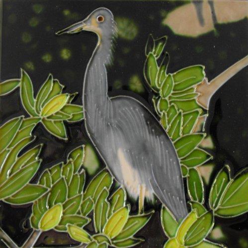 Heron Decorative Ceramic Wall Art Tile 6x6 ()